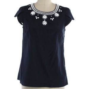 Navy blue short sleeve top